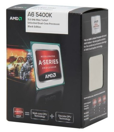 AMD A6-5400K(HD7540D ONBOARD)Turbo Speed 3.8Ghz