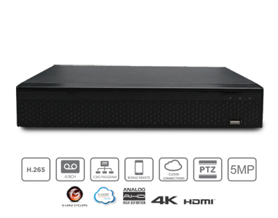 GLENZ DVR 5in1 GFDS-87504M 4 Chanel 5MP