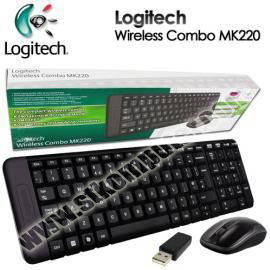 Keyboard + Mouse Logitech Wireless MK220