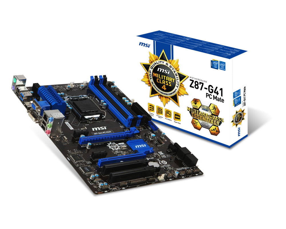 Mainboard MSI Z87-G41 PC Mate(Z87)