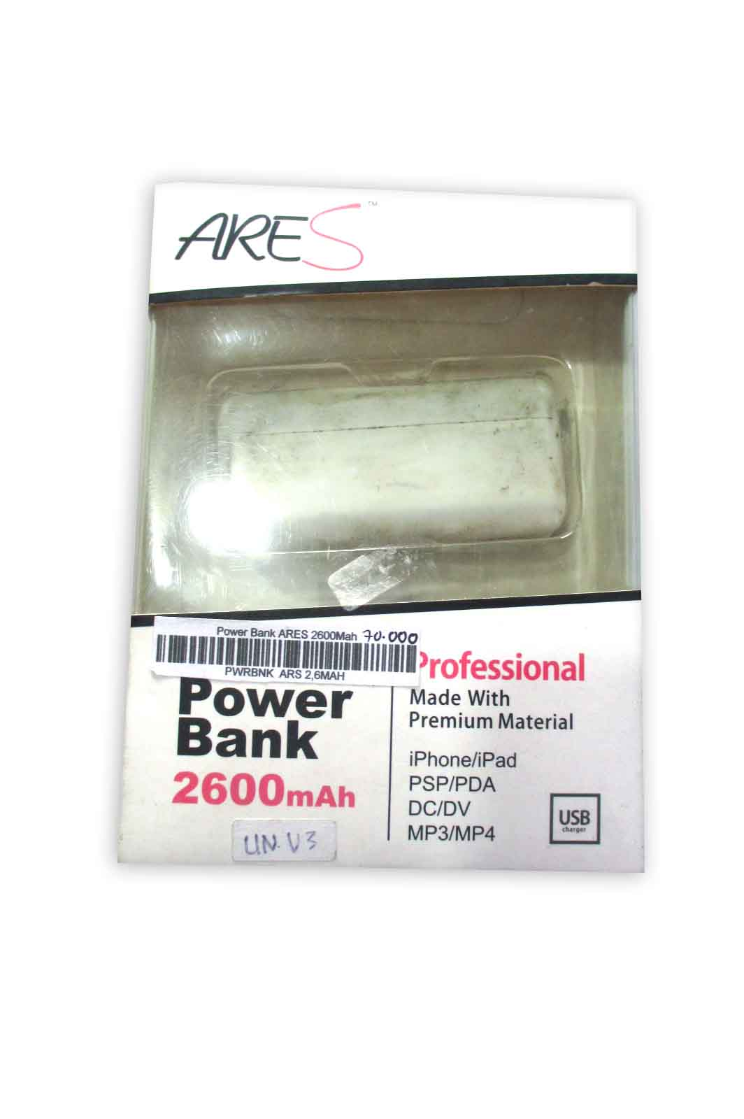 Power Bank ARES 2600Mah