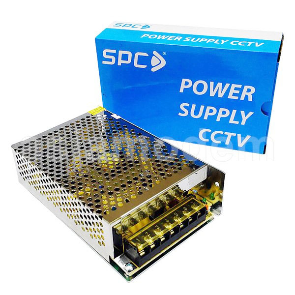 SPC ADAPTOR POWER SUPPLY CCTV 12V-10A BOX