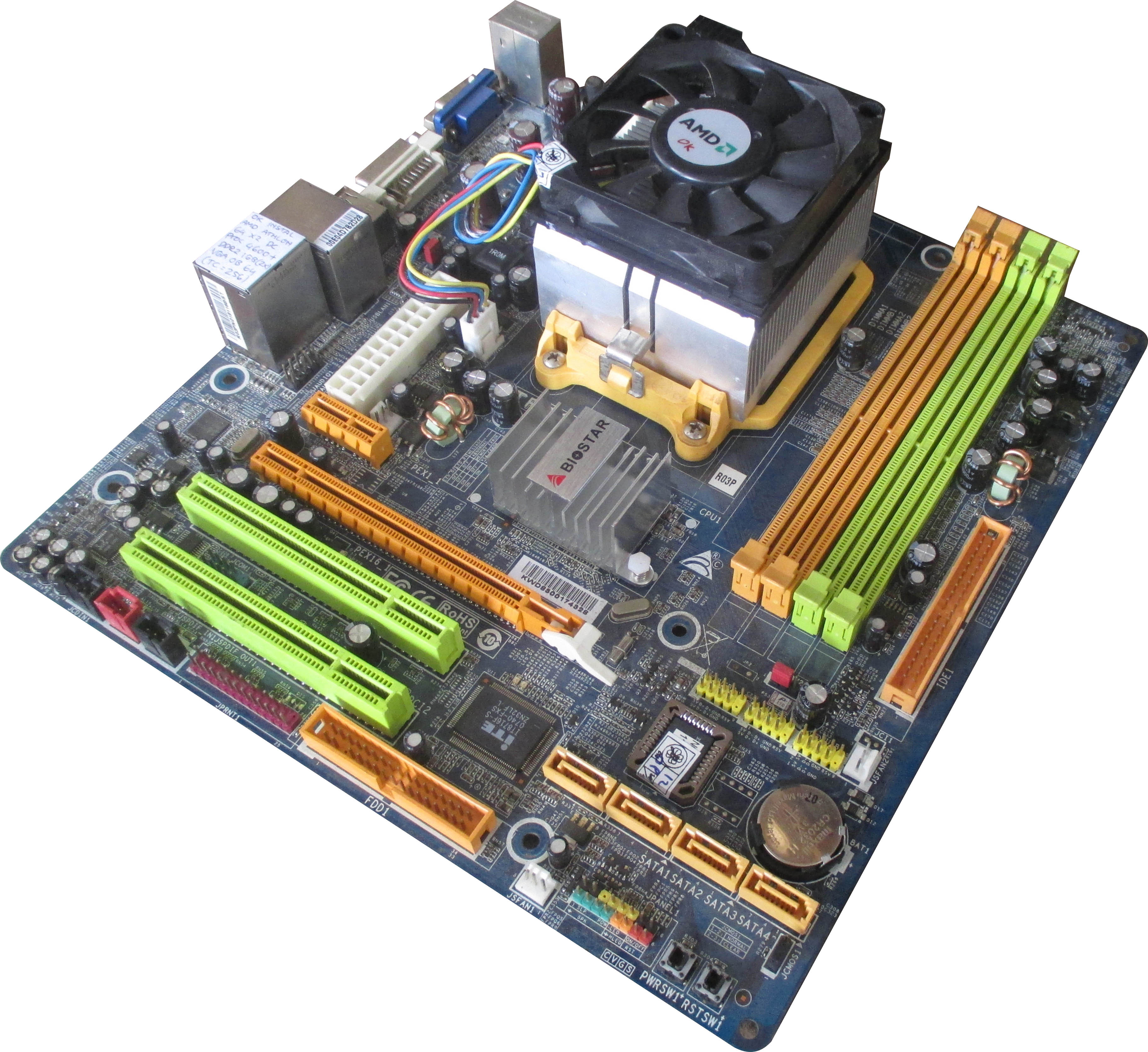 Mb AM2 onb vga ddr2+X24200+ Fan 2nd
