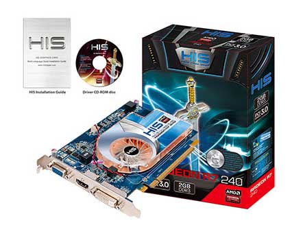 VGA PCIE HIS R7 240 2gb DDR3 Boost Clock