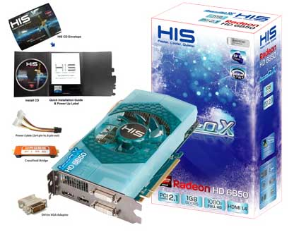 VGA HIS AMD PCIE HD 6850 ICEQ 1gb DDR5 256bit