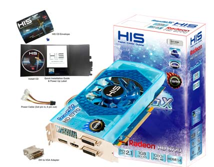 VGA HIS AMD PCIE HD 6770 ICEQ 1gb DDR5 turbo