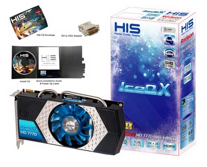 VGA HIS AMD PCIE HD 7770 ICEQ 1gb DDR5