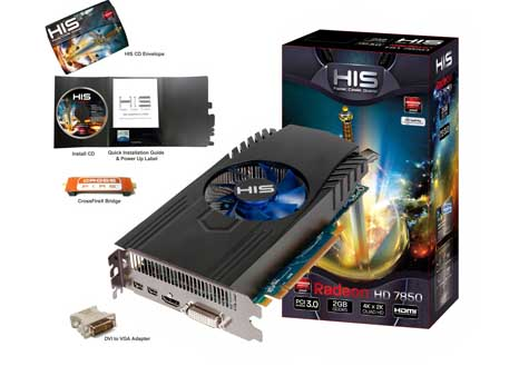 VGA PCIE HIS 7850 2gb DDR5