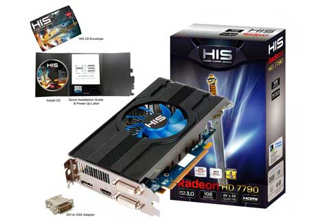 VGA HIS AMD PCIE HD 7790 1gb ICOOLER DDR5