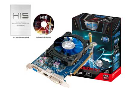 VGA PCIE HIS R7 250 ICOOLER 2gb DDR3 Boost Clock