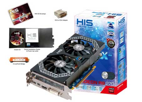 HIS R9 270 iPower IceQ X² Turbo Boost Clock 2GB GDDR5