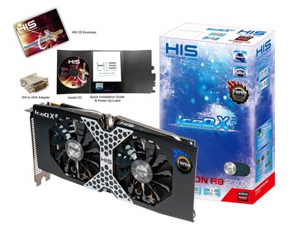 VGA PCIE HIS R9 270x ICEQ X2 Turbo BOOST CLOCK 2gb DDR5