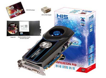 VGA PCIE HIS R9 280 ICEQ OC 3gb DDR5