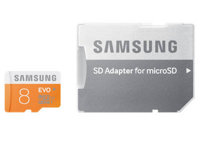Microsd SAMSUNG  Evo Class 10 8Gb With Adapter