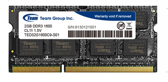 SodimTeam Elite PC3-12800 DDR3 2 Gb Low Voltage